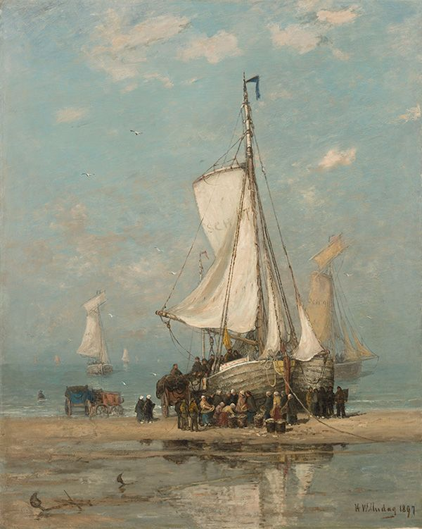 Kunsthandel A.H. Bies - COLLECTION - leading Dutch fine art gallery, specialized in Dutch Romantic School (Romantiek), Hague School (Haagse School) and early 20th century paintings.