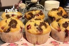 Çilekli Çikolatalı Muffin Tarifi