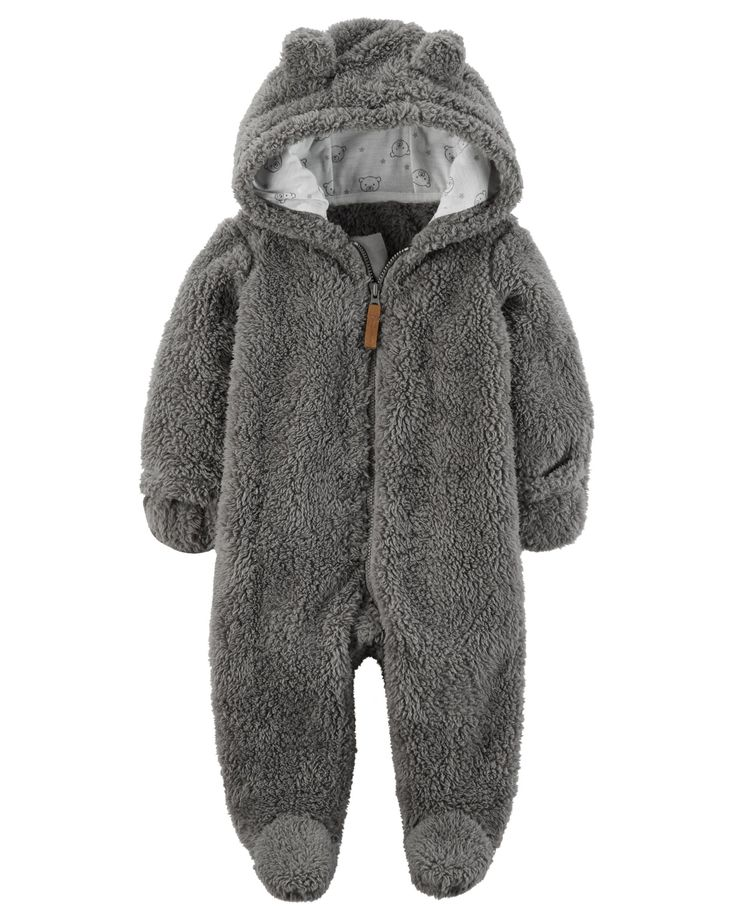 Baby Boy Hooded Sherpa Bunting | Carters.com
