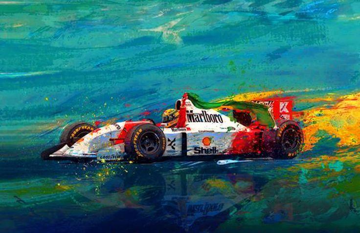 Alan Green Retro Racing Art