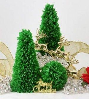 Tündéri karácsonyfa krepppapírból