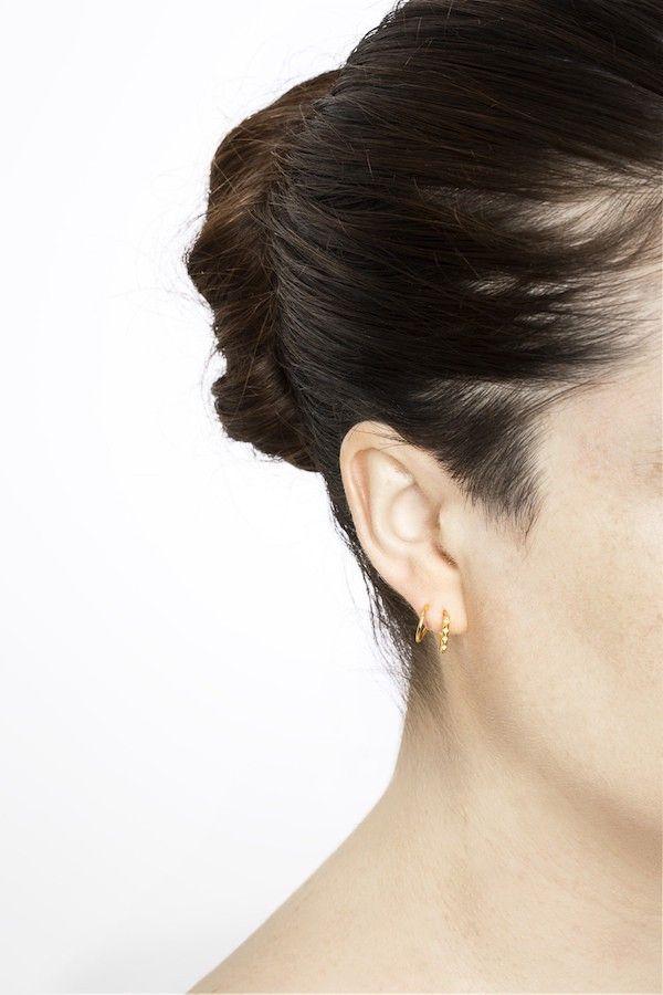 Maria Black Ohrring Klaxon High Polished Gold. www.styleserver.de