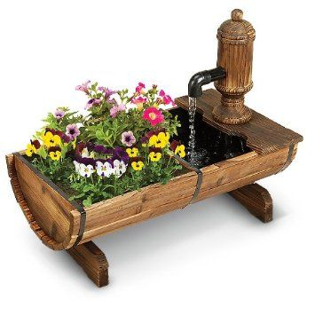 Cracker Barrel Planter and Fountain