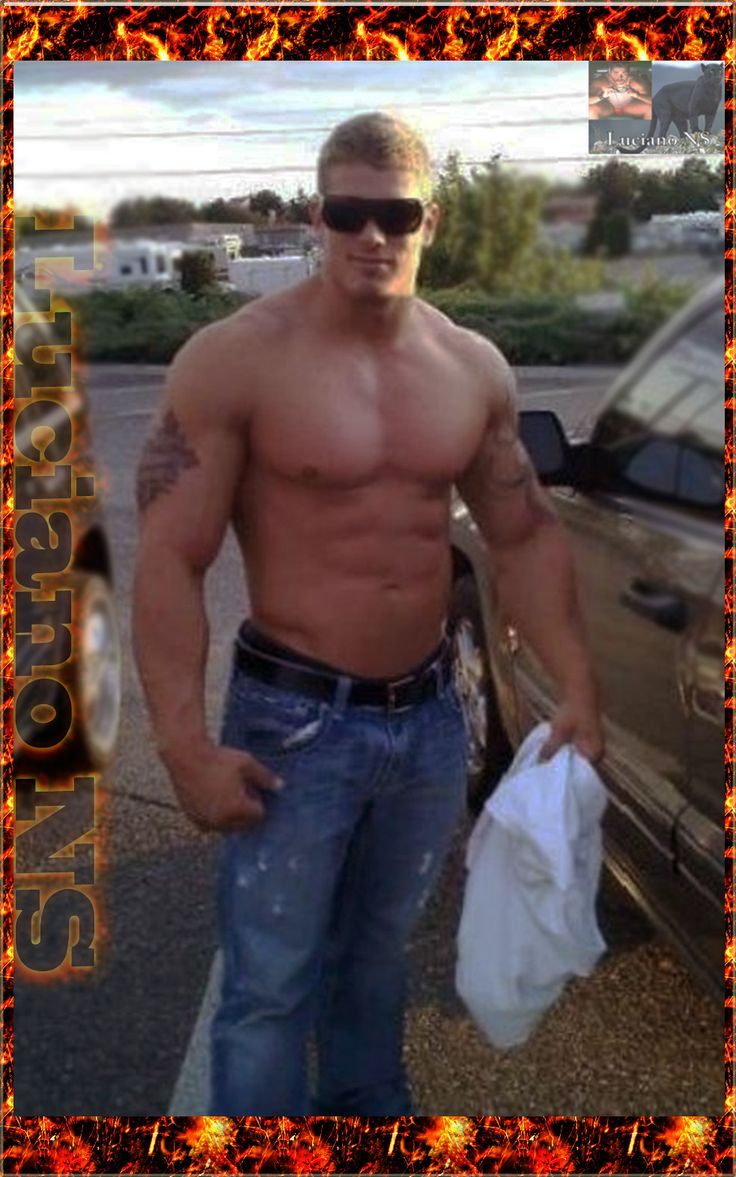 American Blond Muscle Hunk.....