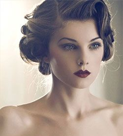 typical vintage makeup look