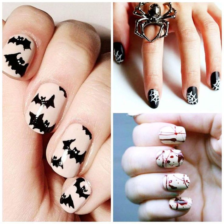 2164 best nail art images on pinterest 20 frighteningly pretty diy halloween nail art tutorials that are a must try this halloween prinsesfo Images