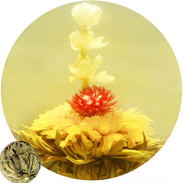 Promotion! 10 Pcs floraison thé fleur naturelle thé organique naturel floraison fleur thé en emballage Individuel sous vide Thé Au Jasmin