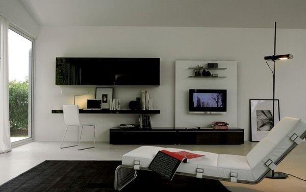 modern tv in living room inspiring ideas elegant lounge chair black rh pinterest com
