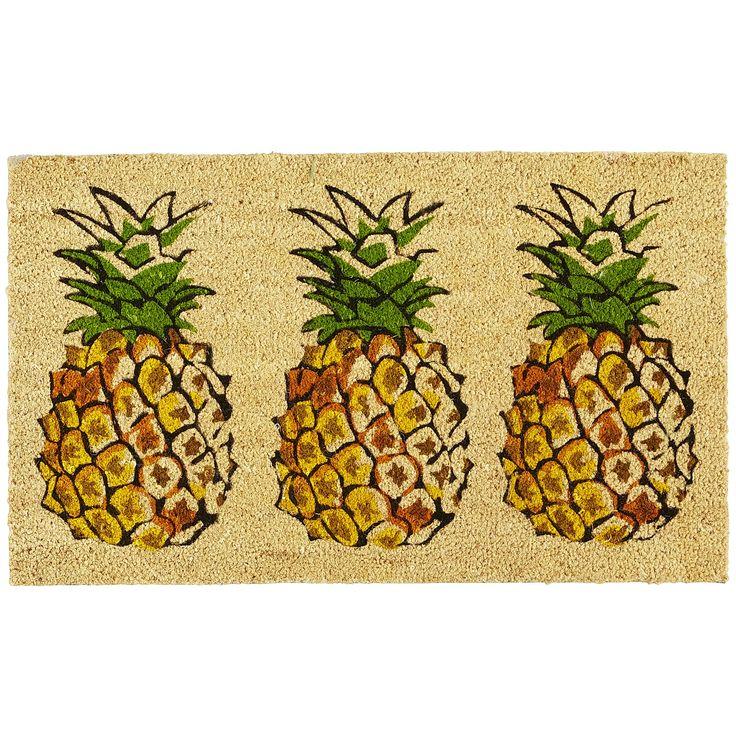 Pineapple Trio Doormat Yellow