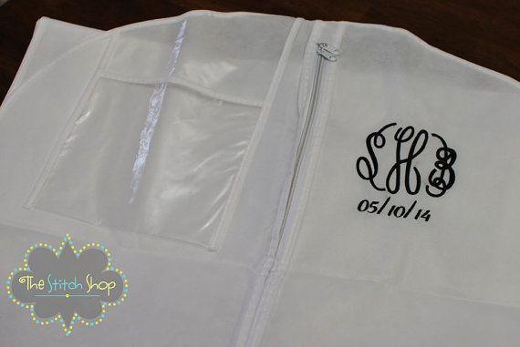 Breathable Wedding Gown Garment Bag by TheStitchShopOnEtsy on Etsy