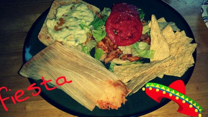 Chicken torte chicken tamales salsa