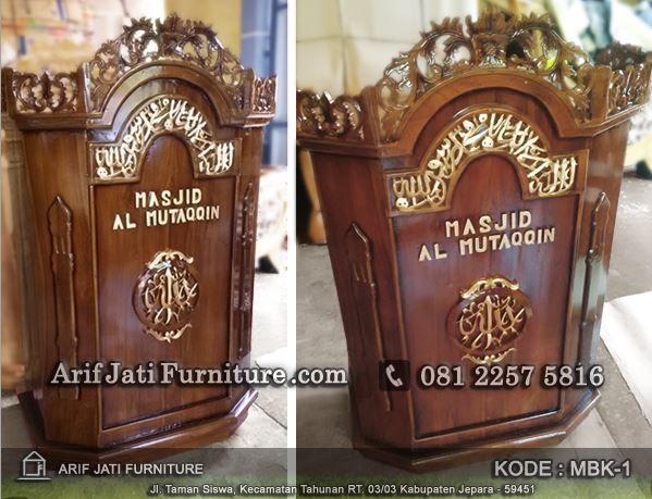 mimbar podium masjid harga murah