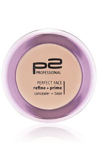 p2 cosmetics perfect face refine   prime concealer   base