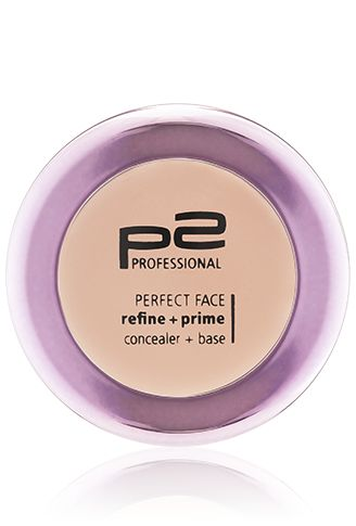 p2 cosmetics perfect face refine   prime concealer   base