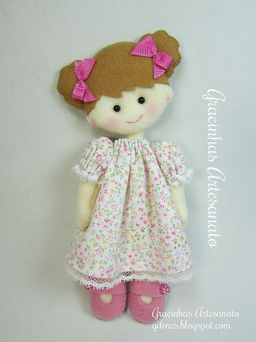 Adorable felt doll...NO pattern