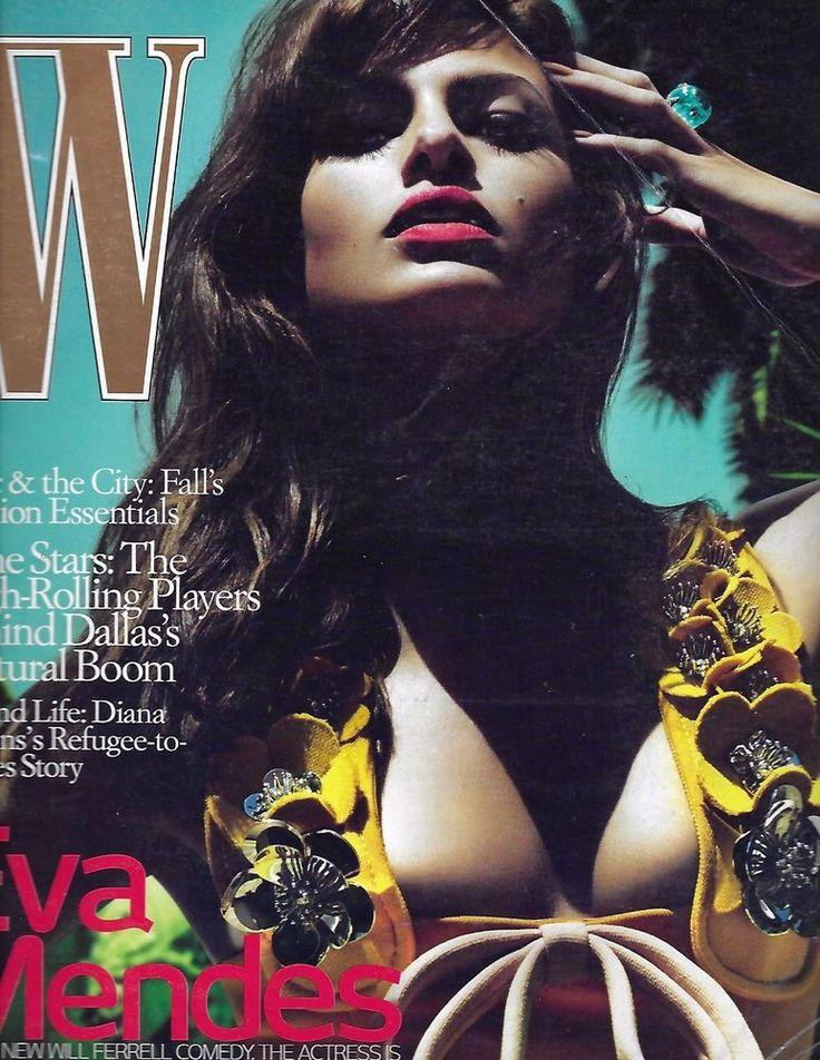 W magazine Eva Mendes Diana Jenkins Dallas cultural boom stars Fall fashion
