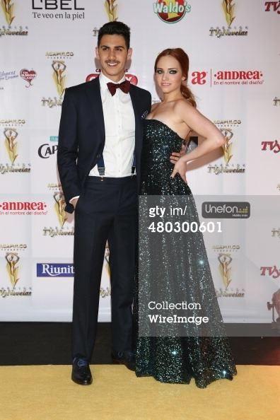 Alejandro Speitzer y Minnie West en la alfombra amarilla de Premios TvyNovelas 2014.  #AlejandroSpeitzer #AlexSpeitzer #actor #MinnieWest #actress #Premios #PremiosTvYNovelas #Televisa #SantaFe