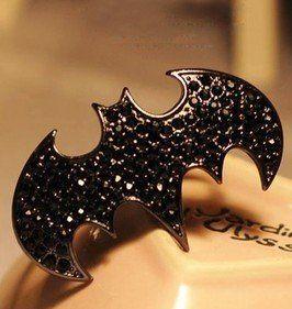 Bague Batman a sequins brillants.