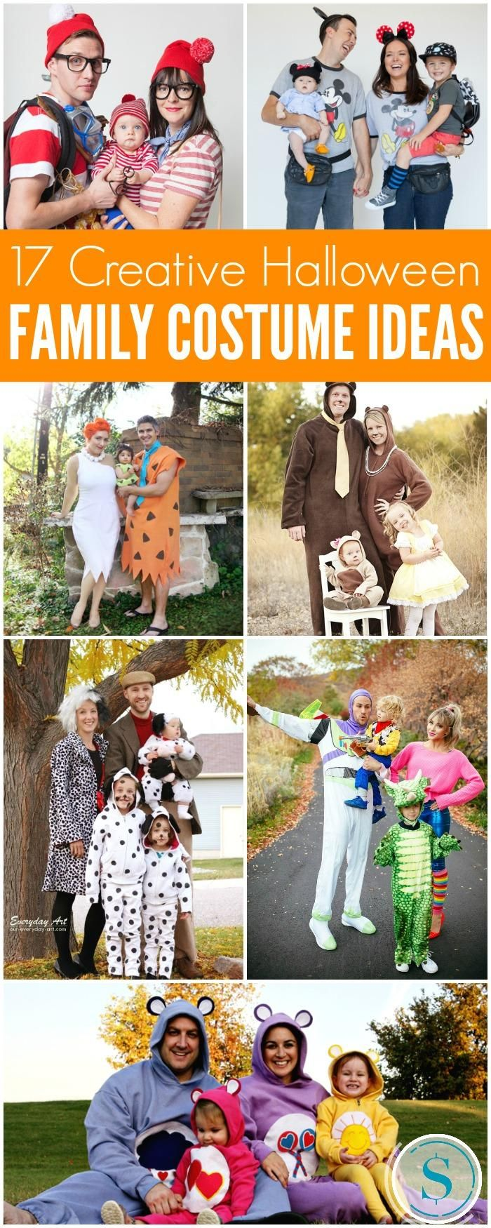 Family Halloween Costume Ideas including DIY Family Halloween Costumes, Group Halloween Costumes, Couple Halloween Costumes and Store Bought Costumes!