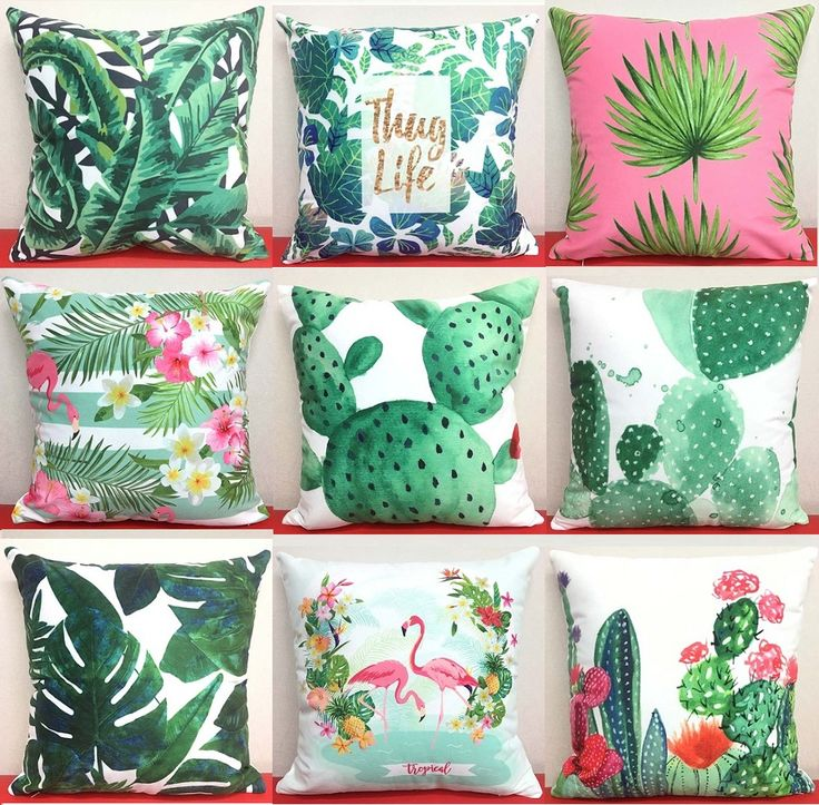 Cheap cushion cover, Buy Quality leaf cushion cover directly from China cover decoration Suppliers: Cactus Art Cushion Cover Tropical Plant Monstera Banana Green Leaves Cushion Covers Decorative Soft Short Plush Pillow Case