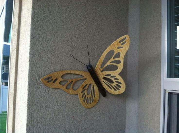 wooden butterfly - large