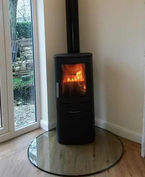 Image result for wood burner placement in contemporary open plan room