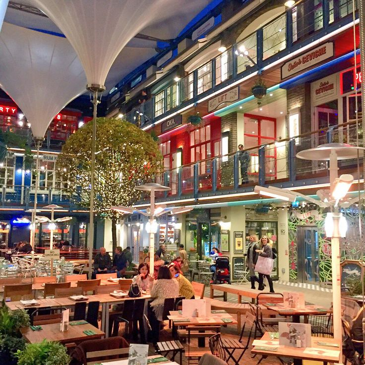 The illustrious Kingly Court in London England! So colourful and vibrant!