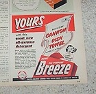 Breeze laundry Soap detergent with a free Cannon towel