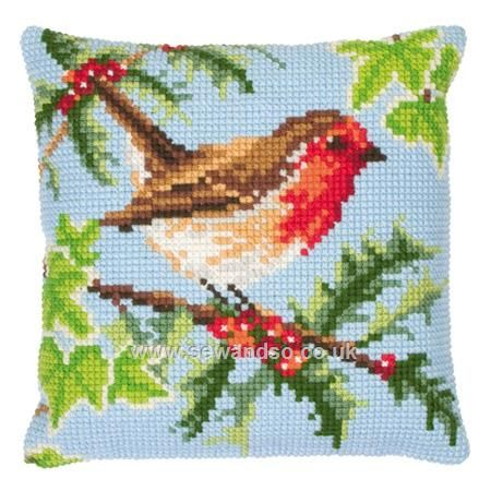 Shop online for Robin and Holly Cushion Front Chunky Cross Stitch Kit at sewandso.co.uk. Browse our great range of cross stitch and needlecraft products, in stock, with great prices and fast delivery.