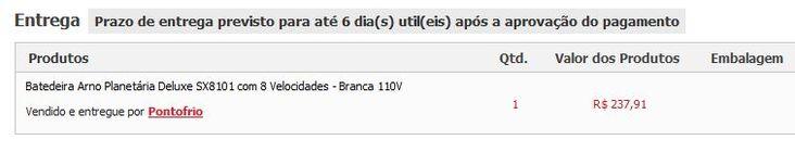 [.Frio] MENOR PREÇO REGISTRADO batedeira planetária arno SX8101 R$ 237,91