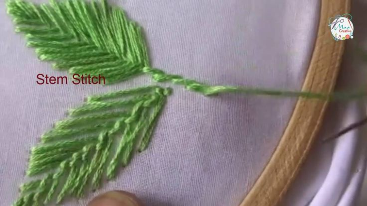 Hand Embroidery Leafs ( Romanian, Fly, Herring Bone) Stitches Designs #...