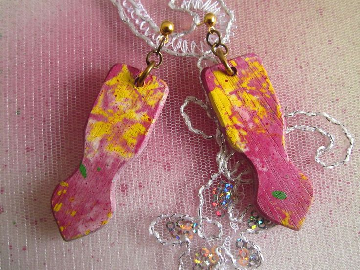 Dolido Wooden/Painted Earrings
