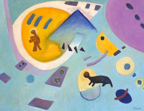 Titolo: Senza titolo, Tecnica: Olio su tela, Dimensione:  50x70 cm, Artist: Silvio Mazzotta