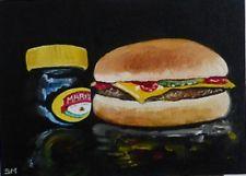 Contemporary Original still life oil painting S Mortimer Marmite happy meal