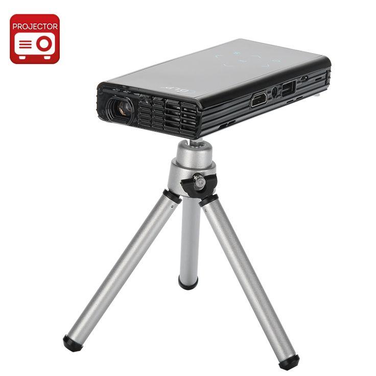 Image of 1080p HD DLP Pocket Projector 'HD Man' - 2500 mAh power bank, 120 lumens