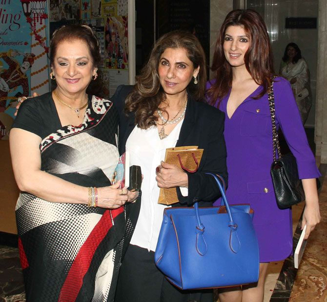 Saira Banu, Dimple Kapadia and Twinkle Khanna at the launch of Sakshi Salve's book 'The Big Indian Wedding, The Ultimate Guide for Dummies'. #Bollywood #Fashion #Style #Beauty