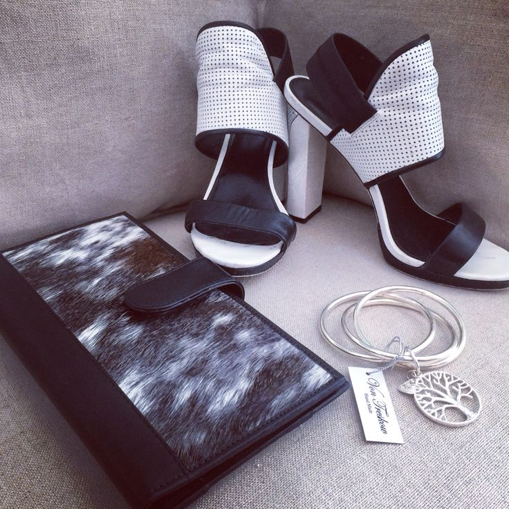 Our travel wallet and von Treskow bangles... #travel #wallet #leather #black #white #shoes #heels #fashion #wittner #silver #melbourne #style #trend #love #cool #heaven  www.charliemac.com.au