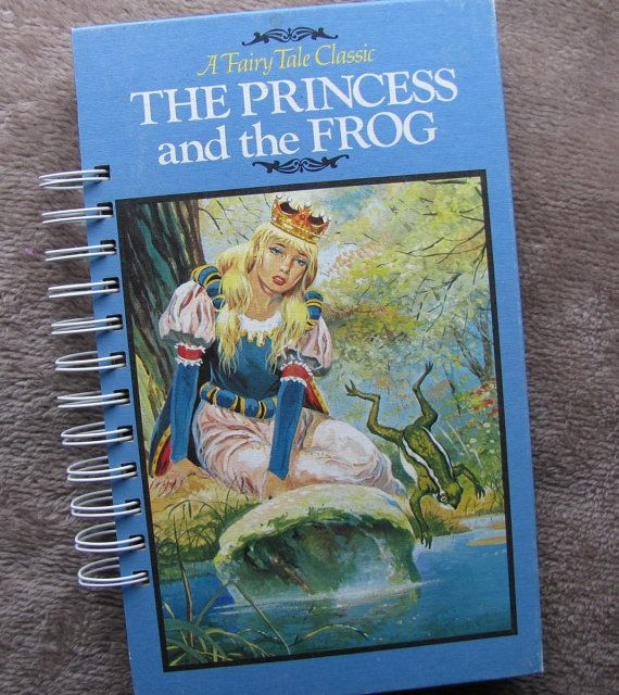 Recycled Vintage Book Journal The Princess and by VintageIntent
