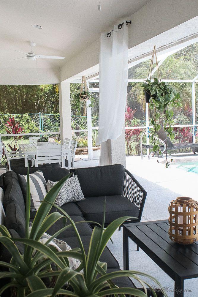 Blank Patio Turned Plant Filled Retreat Lanai Design Lanai Decorating Pool Decor