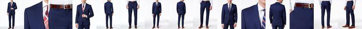 Lauren Ralph Lauren Navy Solid Total Stretch Slim-Fit Suit Separates