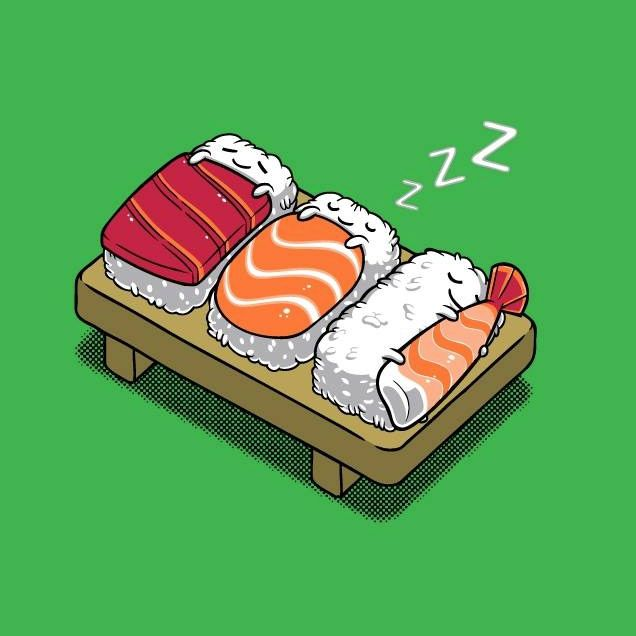 Sleeping sushi...