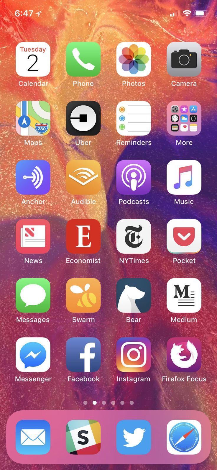 50 iPhone Home Screen Layout Ideas 2017 Gv4c di 2020