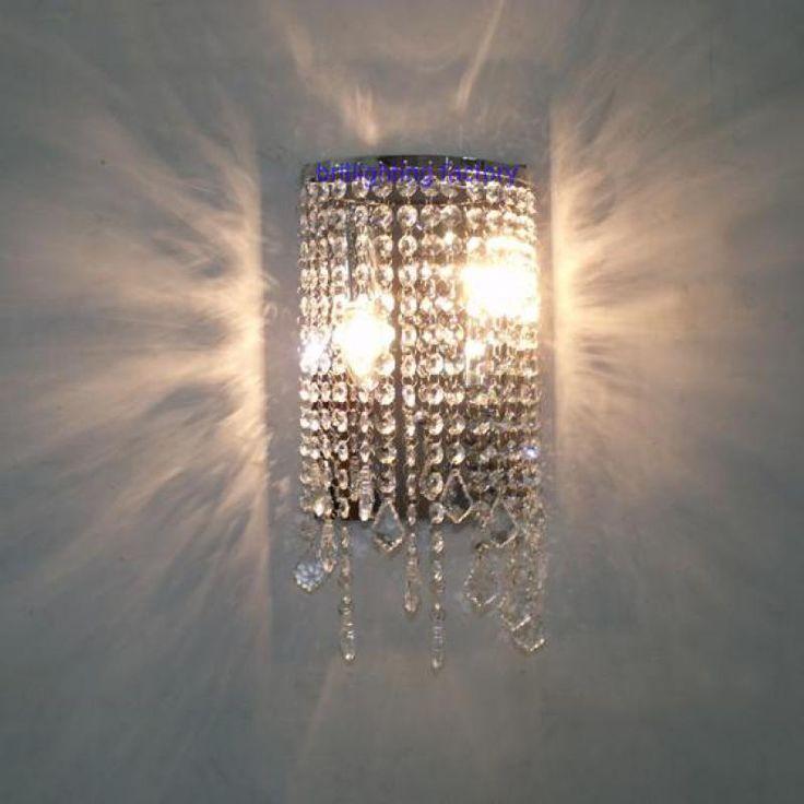 Bathroom Crystal Wall Fixtures Modern Crystal Wall Light Mirror Lights  Contemporary Led Wall Lamp Makeup Wall