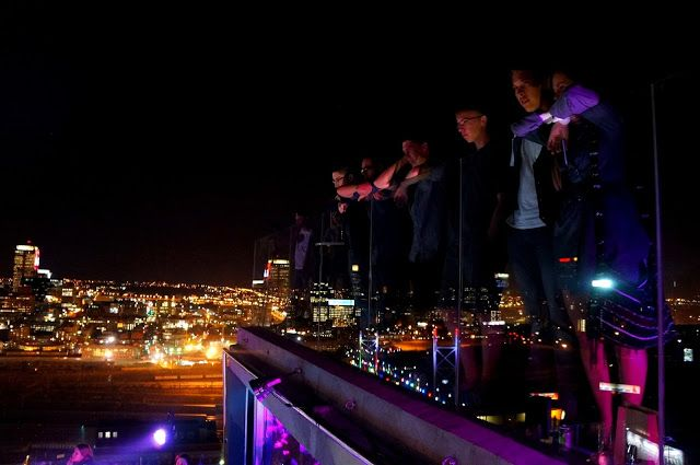 T & Serendipity: Music + Views + Jozi = Randlords Balcony TV!