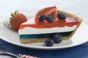 JELL-O Easy Patriotic Pie recipe #dessert #4thofJuly