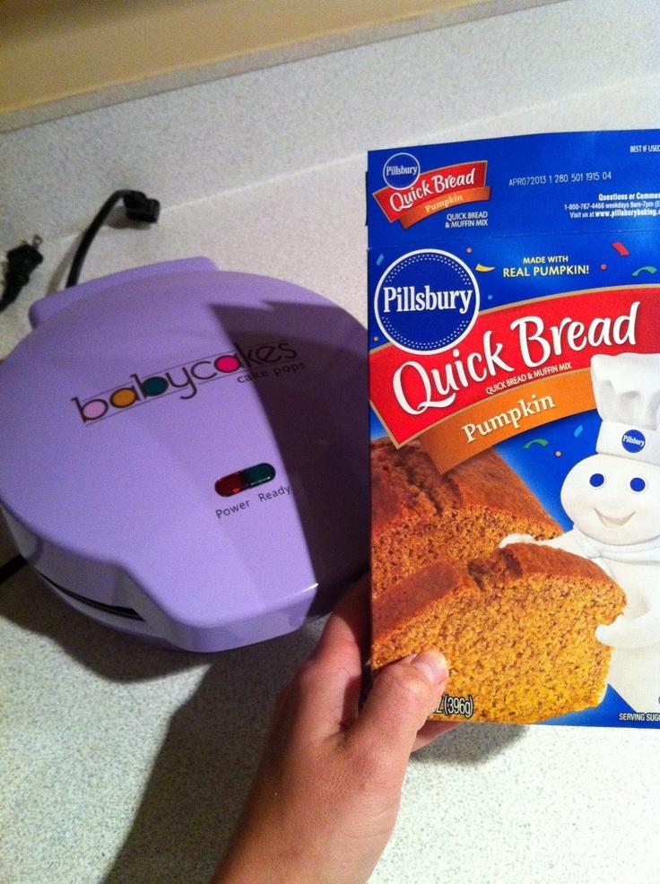 Use Quick Bread recipes in Cake pop maker