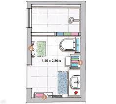 Resultado de imagen para planos de cuartos de baño pequeños