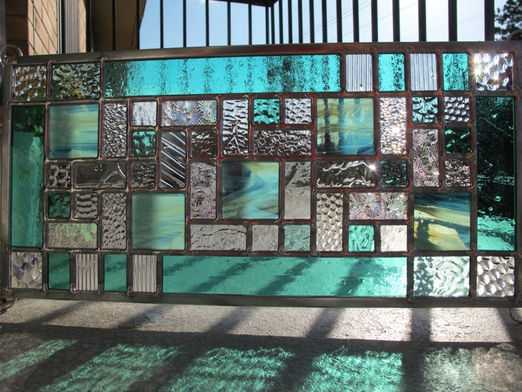 Stained Glass Mint Green Modern.