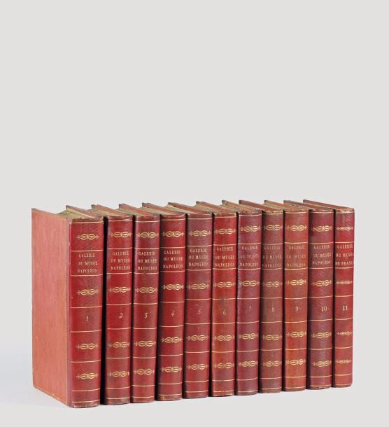 LAVALLÉE, JOSEPH DE  Galerie du musée Napoléon.  PARIS: FILHOL, AN XII [1804]  11 volumes in-4. Reliure de l'époque en maroquin rouge.   - Auction Art Rémy Le Fur & Associés - 08/03/2017