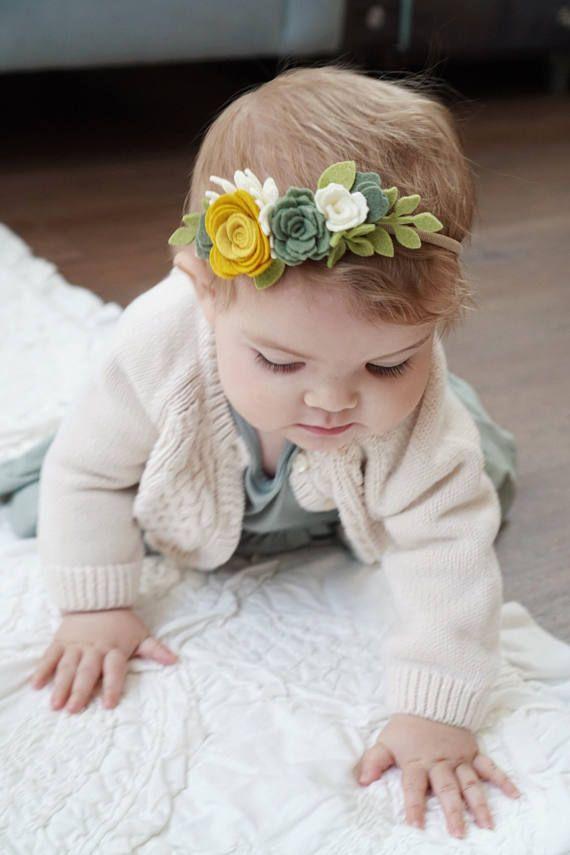 Custom Mini Flower Crown // Felt Flower Crown // Custom Colors